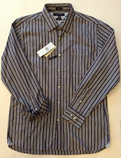 New Tommy Hilfiger Mens LS Casual/Dress Shirt Button-up Blue/White Stripe Sz Lg