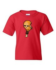 Too Cute To Eat Chicken Leg Food Drumsticks Novelty DT Youth Kids T-Shirt Tee