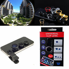 3in1 180° Fish eyeWide Angle Macro Camera Photo Zoom Len for Samsung phones 2014