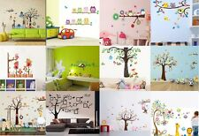 Animals Owl Bird Flower Monkey Tree Wall Decal Sticker Kid Baby Room Home Decor