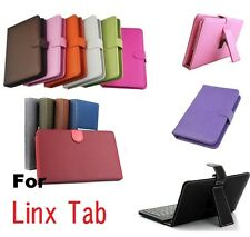 "PU Leather Case & Keyboard for Windows 8 LINX 7 8"" inch Tablet PC"