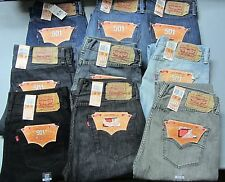 NEW Men's LEVI STRAUSS Jeans 501 Original Button Fly Regular Fit Pre-Shrunk