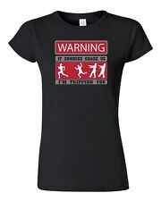 Junior Warning If Zombies Chase Us Tripping You Walking Dead TV DT T-Shirt Tee