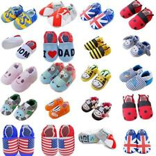 New Toddler Baby Boys Girls Anti-Slip Soft Sole Cotton Prewalker Walking Shoes