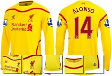 *14 / 15 - WARRIOR ; LIVERPOOL AWAY SHIRT LS + PATCHES / ALONSO 14 = SIZE*