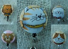 Smiling Cats~Retractable ID/Name Badge Holder Reel~CLICK FOR MORE