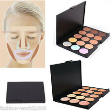 15 Color Pro Natural Sheer Concealer Camouflage Palette Makeup Eyeshadow Bronzer