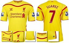 *14 / 15 - WARRIOR ; LIVERPOOL AWAY SHIRT SS + PATCHES / SUAREZ 7 = KIDS SIZE*