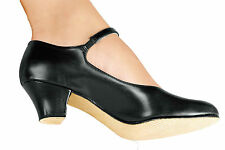 """NEW! SO DANCA 1.5"""" CHARACTER SHOE. SUEDE & LEATHER SOLE. BLACK OR TAN / TAUPE."""