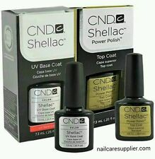 CND Shellac Top Coat and Base coat ,Duo .25oz - Brand New USA SELLER