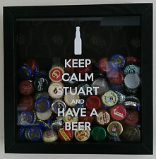 Keep Calm And Drink beer/wine Foto Marco-puede ser personalizado
