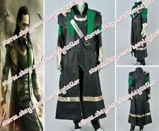 Thor The Dark World Loki Laufeyson Cosplay Costume Outfits Uniform Suit Full Set