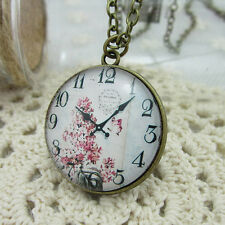 2014 New Vintage Hand Manual Time 30mm Necklace Floral Surface Watch Series