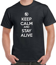 HUNGER GAMES KEEP CALM AND STAY ALIVE TEE T-SHIRT TSHIRT MEN LADIES