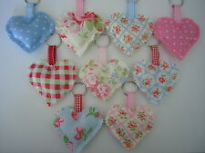 HANDCRAFTED HEART KEY RING/BAG CHARM IN CATH KIDSTON FABRIC