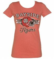 Ladies Bayside Tigers American Football Heather Scoop Neck T-Shirt