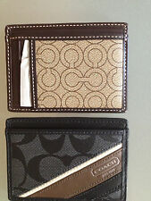 NWT Coach Card Case 74189 MOR Slim Card Case 74223 Heritage Slim Card Case $68