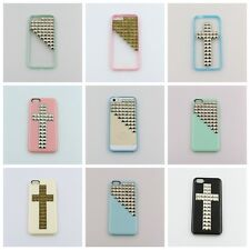 For iPhone 5 5s case Handmade Pyramid Cross Studded Case Cover Freeshipping