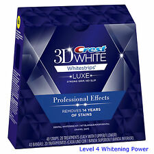 Crest3D WHITE Whitestrips Professional Effects Pro 5 10 20 40 Pouch Teeth Strips