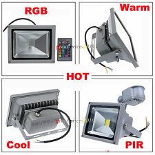 Outdoor LED Flood Light 10W 20W 30W 50W Garden Hotel Projector Lamp RGB/PIR IP65