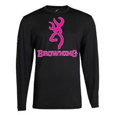 PINK BROWNING T shirt LONG SLEEVE Camo ALL SIZE