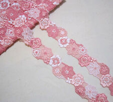 3.5cm*1yard Embroidered Flower Tulle Lace Trim Sewing/Craft  Selected Color
