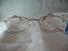 Foster Grant Spare Pair Gold Oval Reading Glasses +1.25 1.75 2.25 2.75