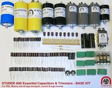 Studer A80 A80R A80QC tape ESSENTIAL capacitor & preset pot upgrade overhaul kit