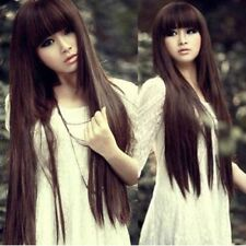 70cm Romantic Girls Fashion Full Wigs all colors Straight Curly Wig Xmas Gift tb