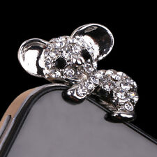 New Latest Cute Diamond Koala Anti Cap Plug Dust Proof Stopper Cover For iPhone