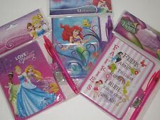 Disney Princess Girls Diary & Frozen Diary - Fairies, w/Lock & Pen, Journal,