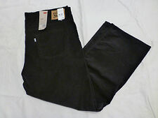 NWT MENS LEVIS 559 RELAXED STRAIGHT FIT CORDUROY PANTS $68 01559-0050 BLACK