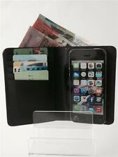 Mens Real Leather Wallet Cover For Apple iPhone 4 4s 5 5s 5c, Keycard, Coin Case