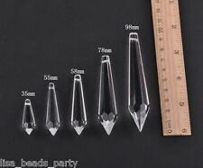 5PCS 35~98mm Big Crystal Glass Clear Pendants Faceted Chandelier Hanging Beads