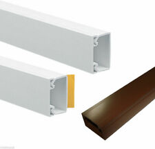 Self Adhesive Mini Trunking White Brown Electrical Cable Conduit Wire Channel