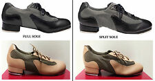 NEW! SO DANCA MAN MADE LEATHER TAP DANCE SHOE. COLORS: BLACK OR GOLD. RARE ITEM!