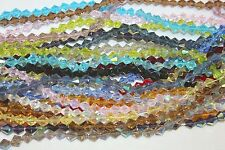 Glass Beads - 6 mm-Bi-cone- 16 Faceted - Five (5) Strands (About 330 Beads)