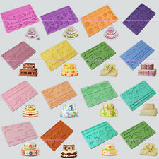 15 Models Silicone Fondant Cake Embossing Gum Paste Heart Decorating Mold Mat