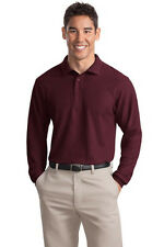 Port Authority Tall Silk Touch Long Sleeve Polo. TLK500LS Mens