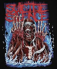 Suicide Silence Deathcore extreme metal Band Skin T-shirt M,L