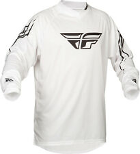 Fly Racing Universal MX/Motocross/ATV Jersey (White) Adult/Youth Sizes