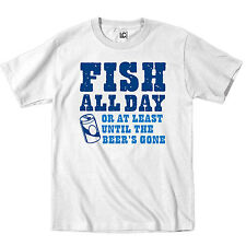 Fish All Day Beer Drinking Fishing Boating Father's Day Dad Humor - Mens T-Shirt
