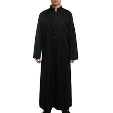 Roman/Orthodox Black Clergy Cassock Robe Cope Single Breasted Button Vestments