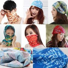 Snood Bandana Multi Purpose Head/Face Mask Use Neck Warmer Sport Running Scarf