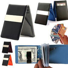 Credit Card holder Money clip Slim thin Leather bifold wallet travel for Men lot
