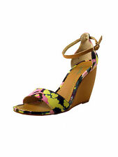 Seychelles Womens Multi-Color Thyme Floral Print Wedge Sandals $90 New