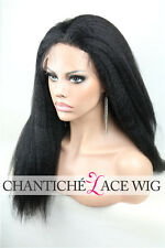 Cheap Italian Yaki Indian Remy Glueless Full Lace Wig 100 Human Hair Black Women