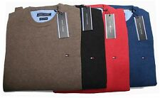 TOMMY HILFIGER Crew Neck Pullover Small Pony Langarm Herren Pullover / Shirt