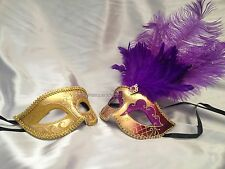 Masquerade mask pair for couple Christmas New Year Eve fancy Dress up Party Mask