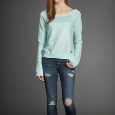 NWT New Abercrombie & Fitch Jenny Shine Sweatshirt Size M  Mint
